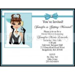 Breakfast At Tiffany Printed Invitation w/ Envelope (Caucasian/African American)