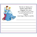Cinderella Wedding Advice Card