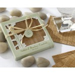 Eco-Friendly 4 Piece Bamboo Coaster Set