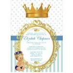 Little Prince Baby Shower Invitations Caucasian or African American