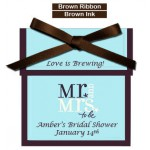 Personalized Mr. and Mrs. To Be Bridal Shower Tea Favor