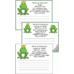 Personalized Frog Prince Bridal Shower Advice Cards
