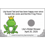 Personalized Bridal Shower Scratch &amp; Win Game  -Frog with Crown 