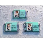 Personalized Breakfast at Tiffany's Bridal Shower Mini Hershey Chocolate Bar Wrappers Caucasian or African American (sheet of 15)