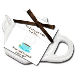 Personalized Wedding Reception Tea Favors with Caddy