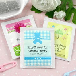 Personalized Baby Shower Tea Favors