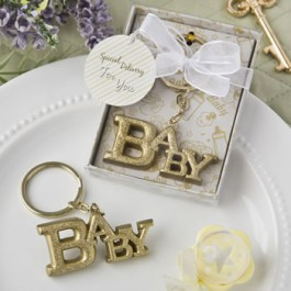 GOLD BABY THEMED KEY CHAIN