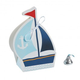 Nautical Baby Shower Favor Boxes (Set of 12)