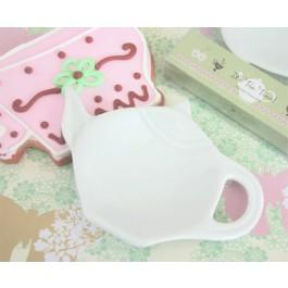 Porcelain Teapot Shaped Tea Caddy