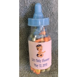 Personalized  Vintage Little Prince Fillable  Baby Bottle Favor (Caucasian or African American)