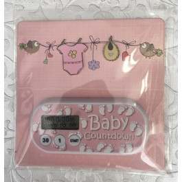 Baby Girl  Countdown Clock