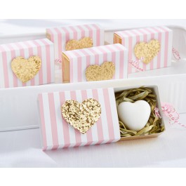 """""""Heart Of Gold"""" Scented Heart Soap"""