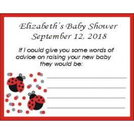 Lady Bug Baby Shower Advice Cards