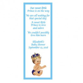 Personalized Vintage Little Prince Laminated Bookmark (Caucasian or African American)