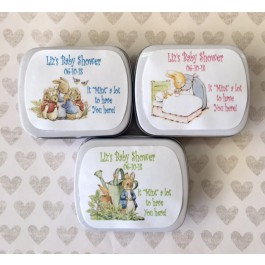Personalized Peter Rabbit Mint Tins (3 Colors) (Set of 12)