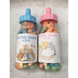 Personalized Peter Rabbit Fillable Baby Bottles (Pink or Blue)