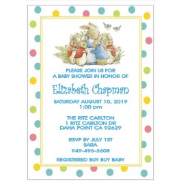 Personalized Peter Rabbit Baby Shower Invitation (3 Designs & Colors)