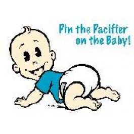 Pin the Pacifier on the Baby Game