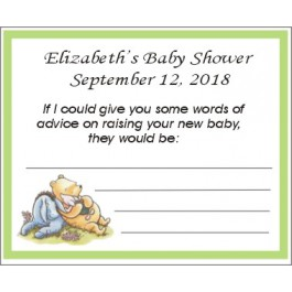 Personalized Classic Pooh Advice Card (3 Colors)