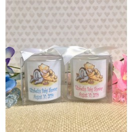 Personalized Classic or Baby Winnie the Pooh Candles (3 Colors)