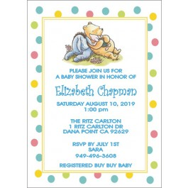 Personalized Winnie the Pooh and Friends or Classic Pooh Baby Shower Invitations (5x7) (2 Designs) (3 Colors)