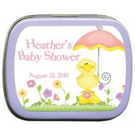 Baby Duck Umbrella Mint Tin Favors