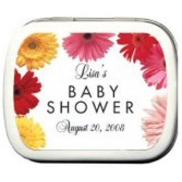 Gerber Daisy Baby Shower Mint Tin Favors