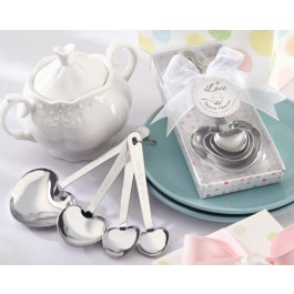 Love Beyond Measure Stainless-Steel Measuring Spoons Baby Shower Favor