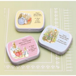 Personalized Peter Rabbit Mint Tins (Set of 12)<br>(mints not included)