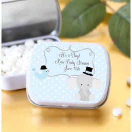 Personalized Baby Elephant Mint Tins (Set of 12)  (mints not included)