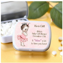 Personalized Little Princess or Prince Mint Tins (Set of 12) (MINTS NOT INCLUDED)