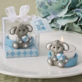 BABY ELEPHANT TEA LIGHT HOLDER IN BLUE