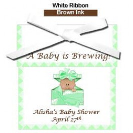 African american personalized baby shower tea favors rosemary gifts negle Choice Image