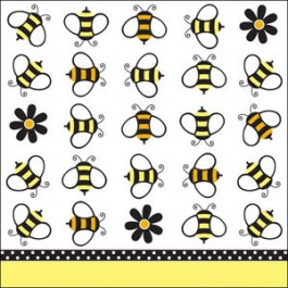 Buzz BaBEE Shower Beverage Napkins (package of 18)