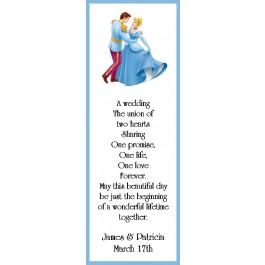 Cinderella Wedding Bookmark Favor