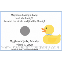 Personalized Baby Shower Scratch & Win Game  -Ducky