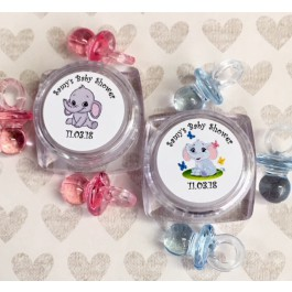 Personalized Little Peanut Elephant Lip Balm in Pink or Blue