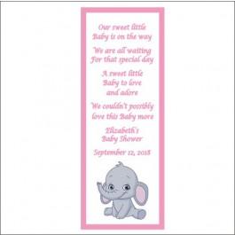 Personalized Little Peanut Baby Elephant Laminated Bookmarks (3 Colors)