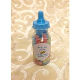 Royal Prince Fillable Bottle Baby Shower Favor