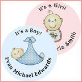 It's a Girl / It's a Boy Personalized Baby Shower Buttons (Rosemary Exclusive!)