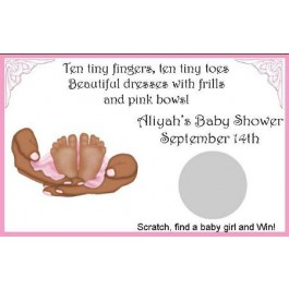 Personalized African American Tiny Toes Scratch Off Game (Set of 12) (Rosemary Exclusive!)
