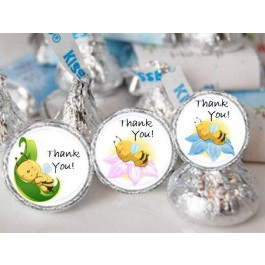 Baby Bee Hershey Kisses Labels (105 per sheet)