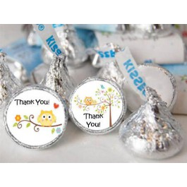 Baby Owl Hershey  Kisses Labels (105 per sheet)