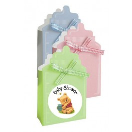 Winnie The Pooh Baby Bottle  Favor Box  (3 Colors) (Set of 24)