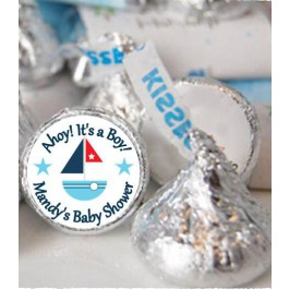 Personalized Nautical  Hershey Kisses Labels (Set of 105)
