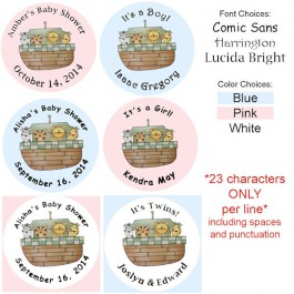 Noah's Ark Personalized Baby Shower Buttons