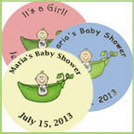 Pea in a Pod Personalized Baby Shower Buttons  (Rosemary Exclusive!)