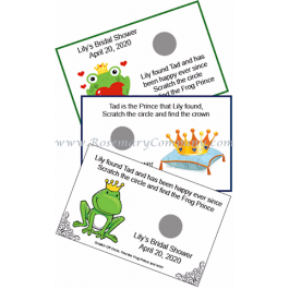 Personalized Frog Prince Scratch Off Game Cards