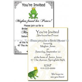 Personalized Frog Prince Bridal Shower Invitations (Pkg. Of 10)