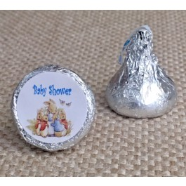 Peter Rabbit Hershey Kiss Labels 3 Colors (Set of 105)